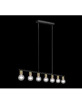Trio Hanglamp Vannes 7 lichts | Messing mat