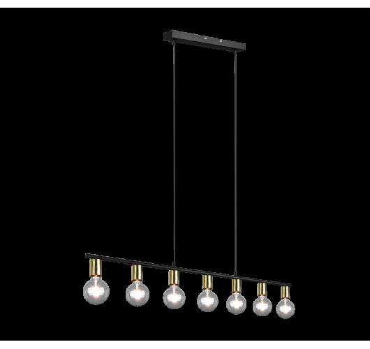 Trio Hanglamp Vannes 7 lichts | Messing mat Hanglampen