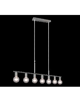 Trio Hanglamp Vannes 7 lichts | Nickel Mat