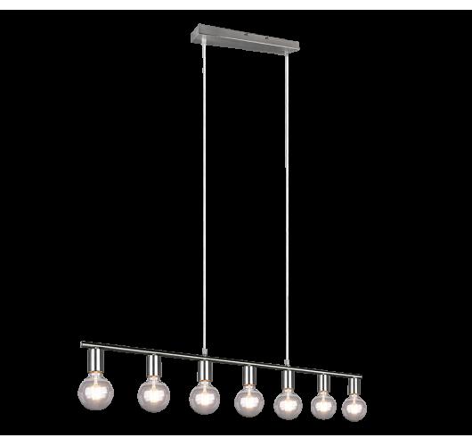 Trio Hanglamp Vannes 7 lichts | Nickel Mat Hanglampen