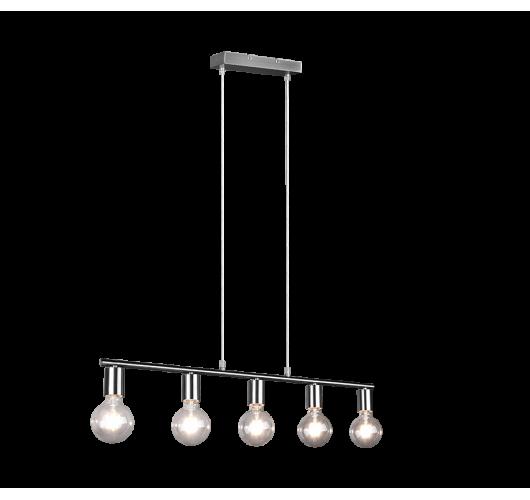 Trio Hanglamp Vannes 5 lichts   Nickel Mat Hanglampen