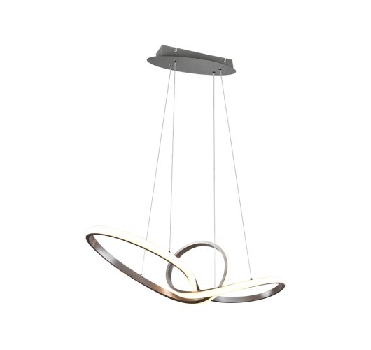 Trio hanglamp Sansa Ø80cm | Nikkel Mat Plafonnières