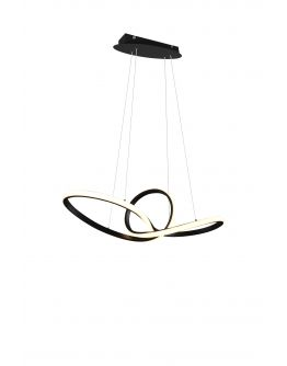 Trio hanglamp Sansa Ø80cm | Zwart