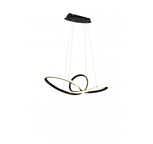 Trio hanglamp Sansa Ø80cm | Zwart Plafonnières