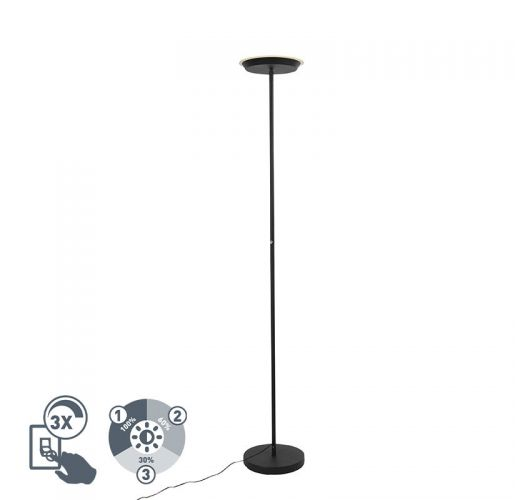 Trio Vloerlamp Ponda | Zwart  Vloerlampen