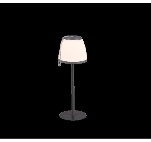 Trio Tafellamp Domingo LED USB Oplaadbaar | Antraciet Tafellampen