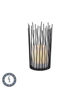Trio Tafellamp Coro Zwart | LED op Solar IP44
