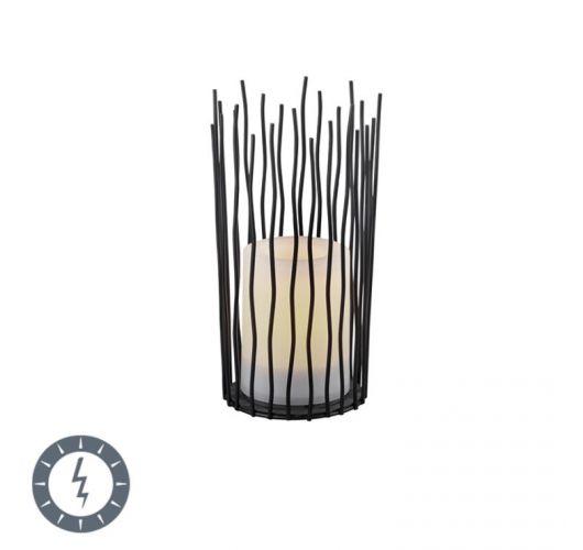 Trio Tafellamp Coro Zwart | LED op Solar IP44 Tafellampen