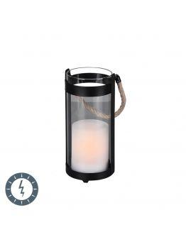 Trio Tafellamp Minas Zwart | LED op Solar IP44