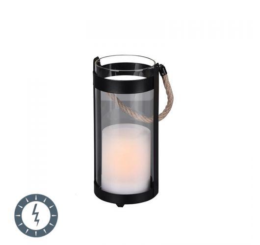 Trio Tafellamp Minas Zwart | LED op Solar IP44 Tafellampen