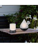 Trio Tafellamp Parral Zwart | LED op Solar IP44 Tafellampen