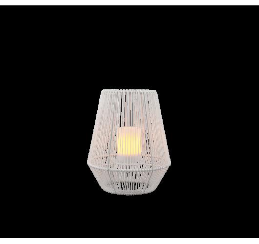 Trio Mineros Tafellamp 30cm Dag/Nacht sensor IP44   WIT  Tafellampen