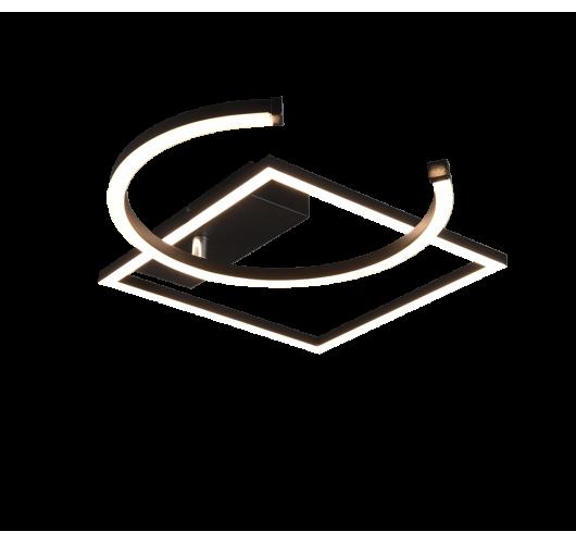 Trio plafondlamp Pivot Ø42cm | Mat Zwart Plafonnières