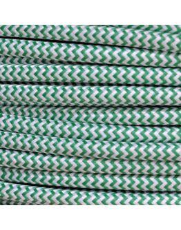 Strijkijzersnoer Groen / Wit 2 x 0.75 mm | Per meter | Maak je eigen unieke lamp!