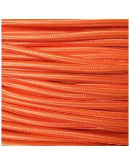 Strijkijzersnoer Oranje 2 x 0.75 mm | Per meter | Maak je eigen unieke lamp!