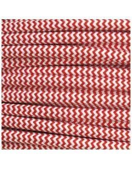 Strijkijzersnoer Rood / Wit 2 x 0.75 mm | Per meter | Maak je eigen unieke lamp!