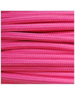 Strijkijzersnoer Roze 2 x 0.75 mm | Per meter | Maak je eigen unieke lamp!