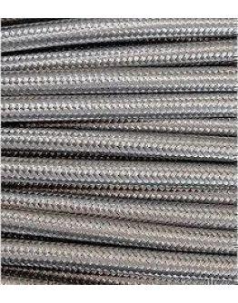 Strijkijzersnoer Zilver Grijs 2 x 0.75 mm | Per meter | Maak je eigen unieke lamp!