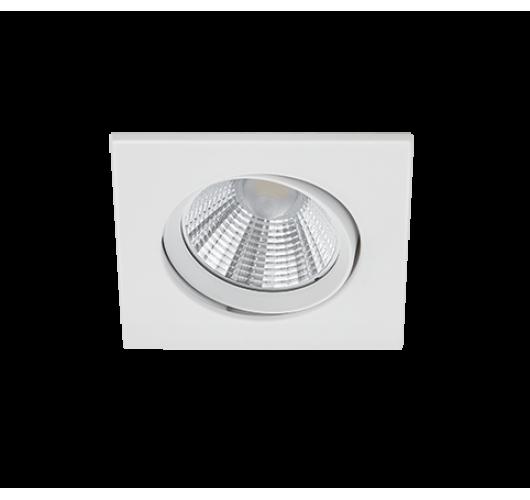 Trio Inbouwspot Pamir Vierkant LED IP23 | Wit Mat Spots