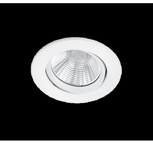Trio Inbouwspot Pamir Rond LED IP23 | Wit Mat Spots