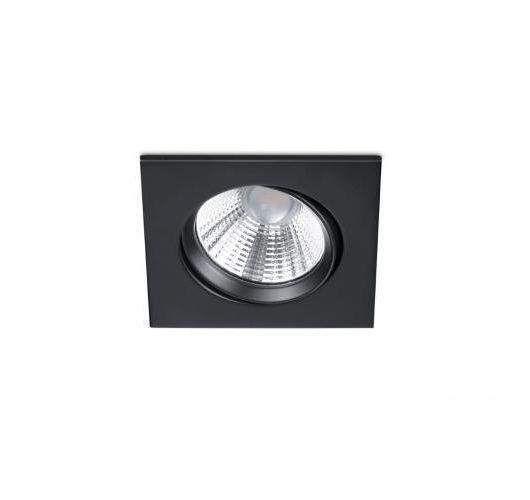 Trio Inbouwspot Pamir Vierkant LED IP23 | Zwart Mat Spots