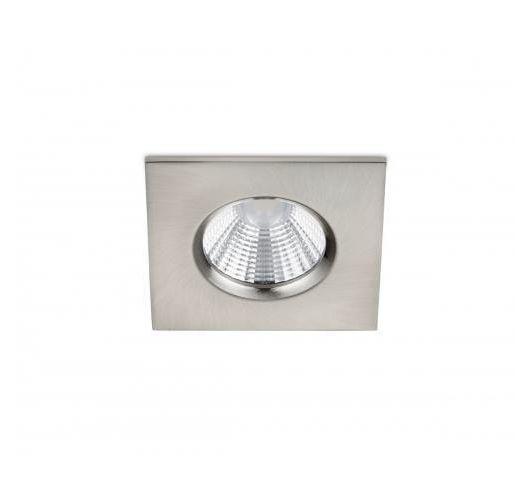 Badkamer inbouwspot Zagros incl. LED 5.5w | 3000K | 345lm | Nikkel Mat | Vierkant Spots