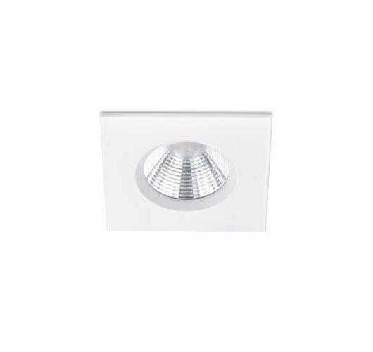 Badkamer inbouwspot Zagros incl. LED 5.5w | 3000K | 345lm | Wit Mat | Vierkant Spots
