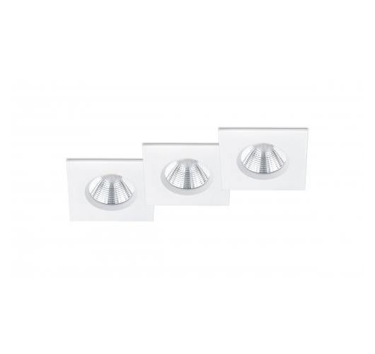 Trio International Badkamer inbouwspots Zagros incl. LED 5.5w | 3000K | 345lm | Wit Mat | 3 Stuks Spots
