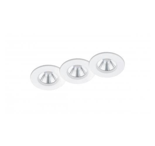 Trio International Badkamer inbouwspots Pamir incl. LED 5.5w | 3000K | 345lm | Wit Mat | 3 Stuks Spots