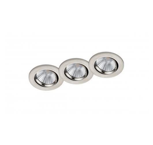 Trio International Badkamer inbouwspots Pamir inclusief LED 5.5w | 3000K | 345lm | RVS | 3 Stuks Spots
