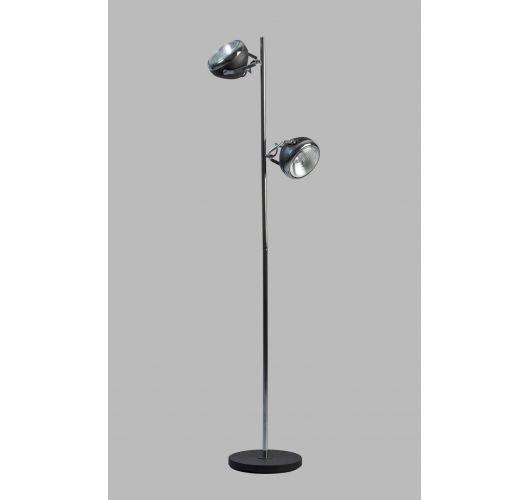 Headlight Vloerlamp Zwart / Chroom (max 42w)