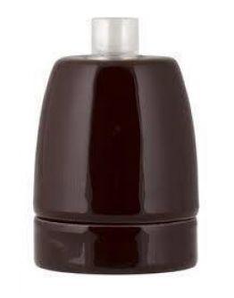 Fitting Porselein bruin E27
