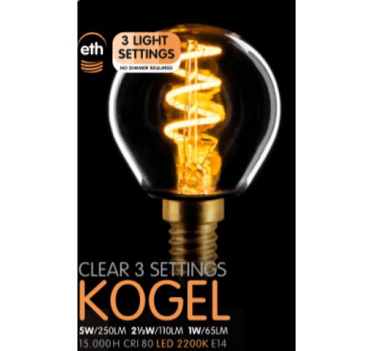 Led Spiraal Kogel Helder | 5W | E14 | 3 Stappen Dimbaar  Ledlampen