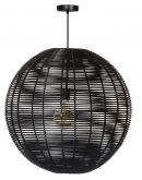 BlackJack hanglamp zwart bol 70CM Plafondlamp